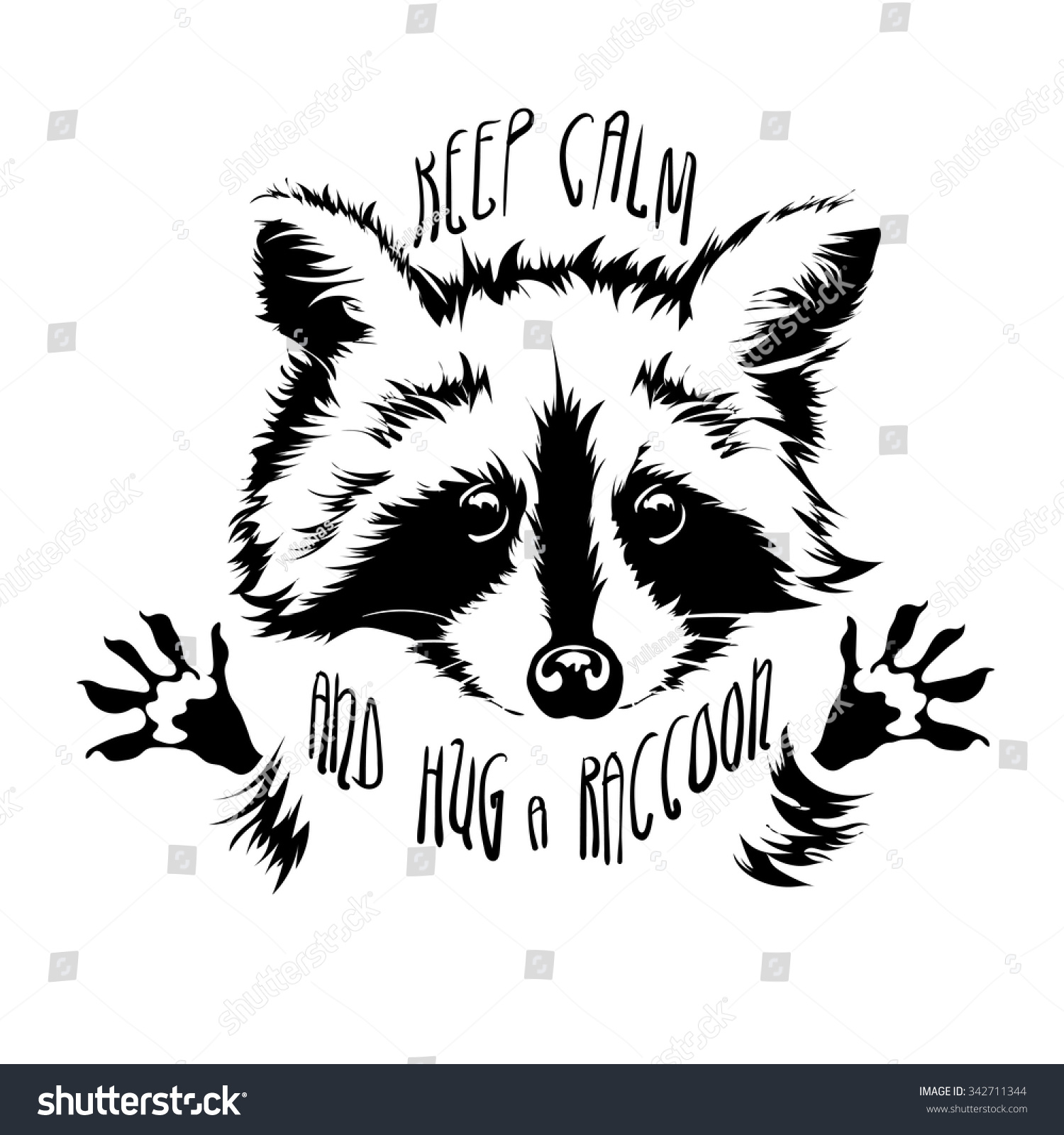 Raccoon Face Clip Art Black And White | galleryhip.com ... Raccoon Face Clip Art Black And White