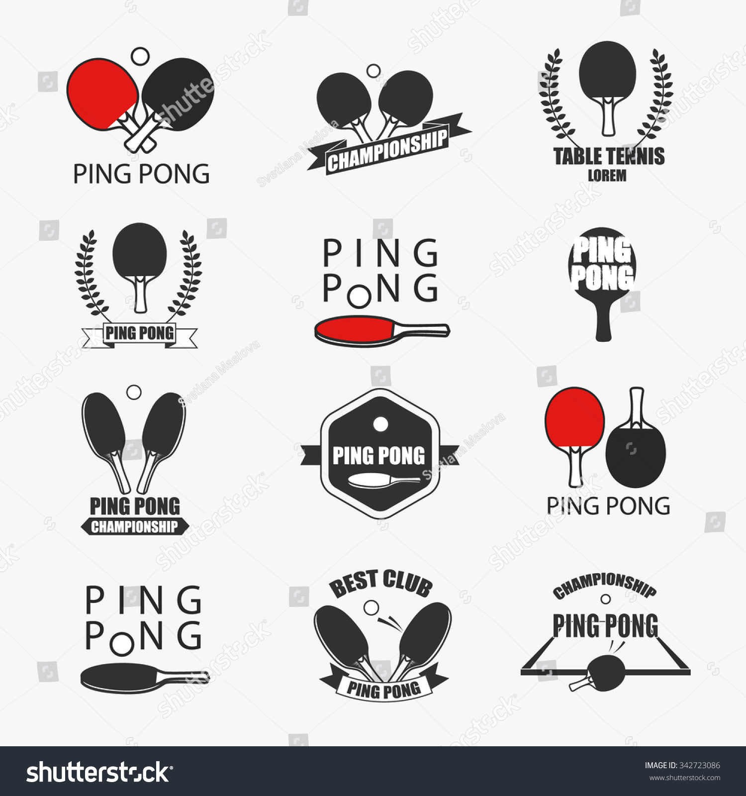 Table tennis logo vector