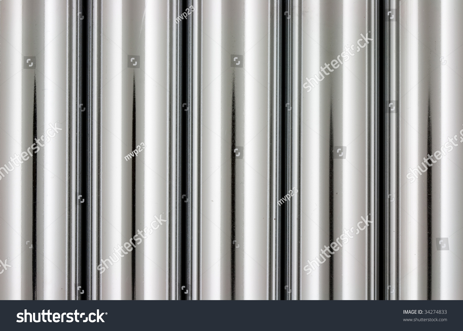 chrome silver pipes abstract background stock photo