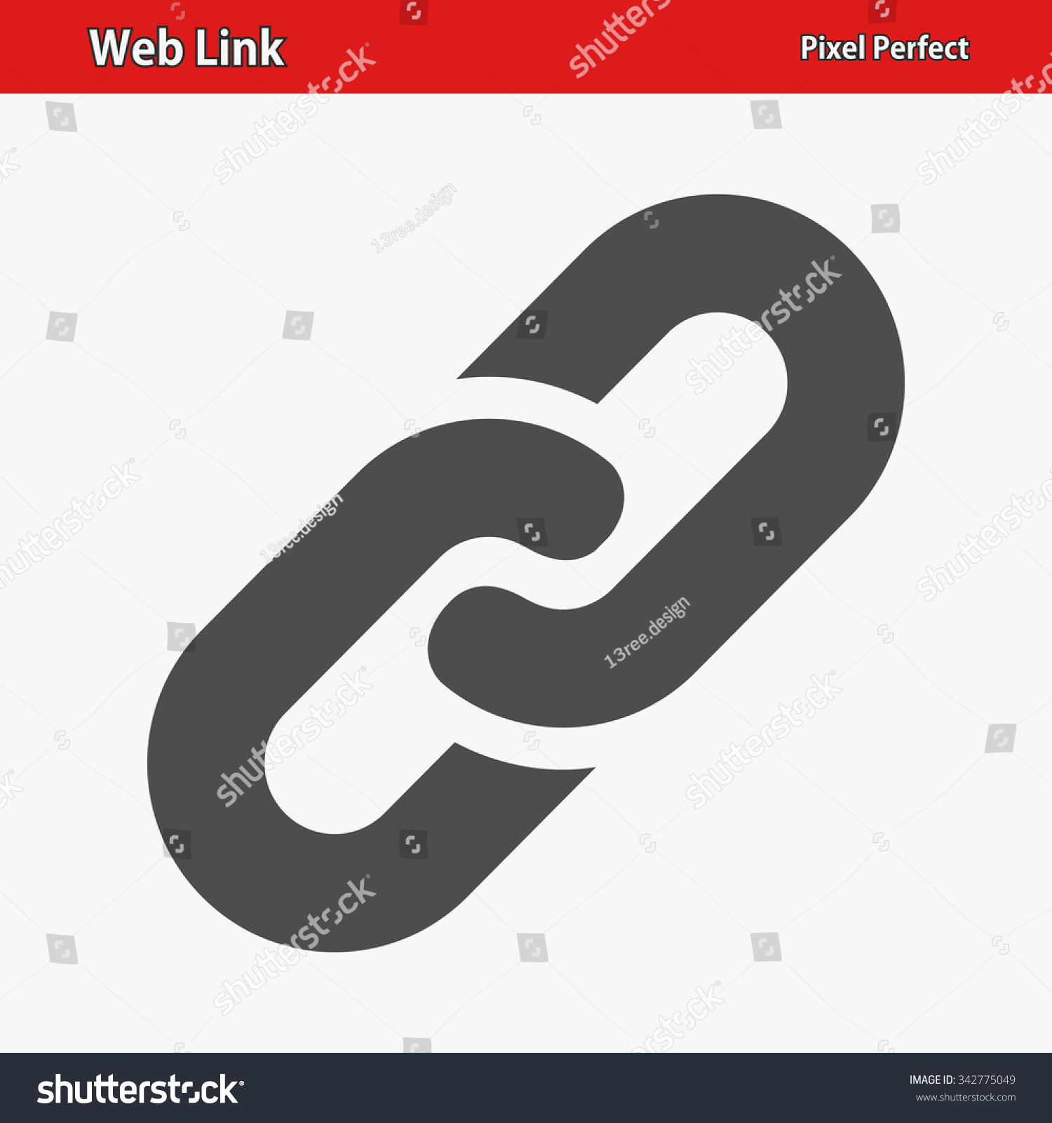 Web Link Icon Professional Pixel Perfect Stock Vector Royalty Free