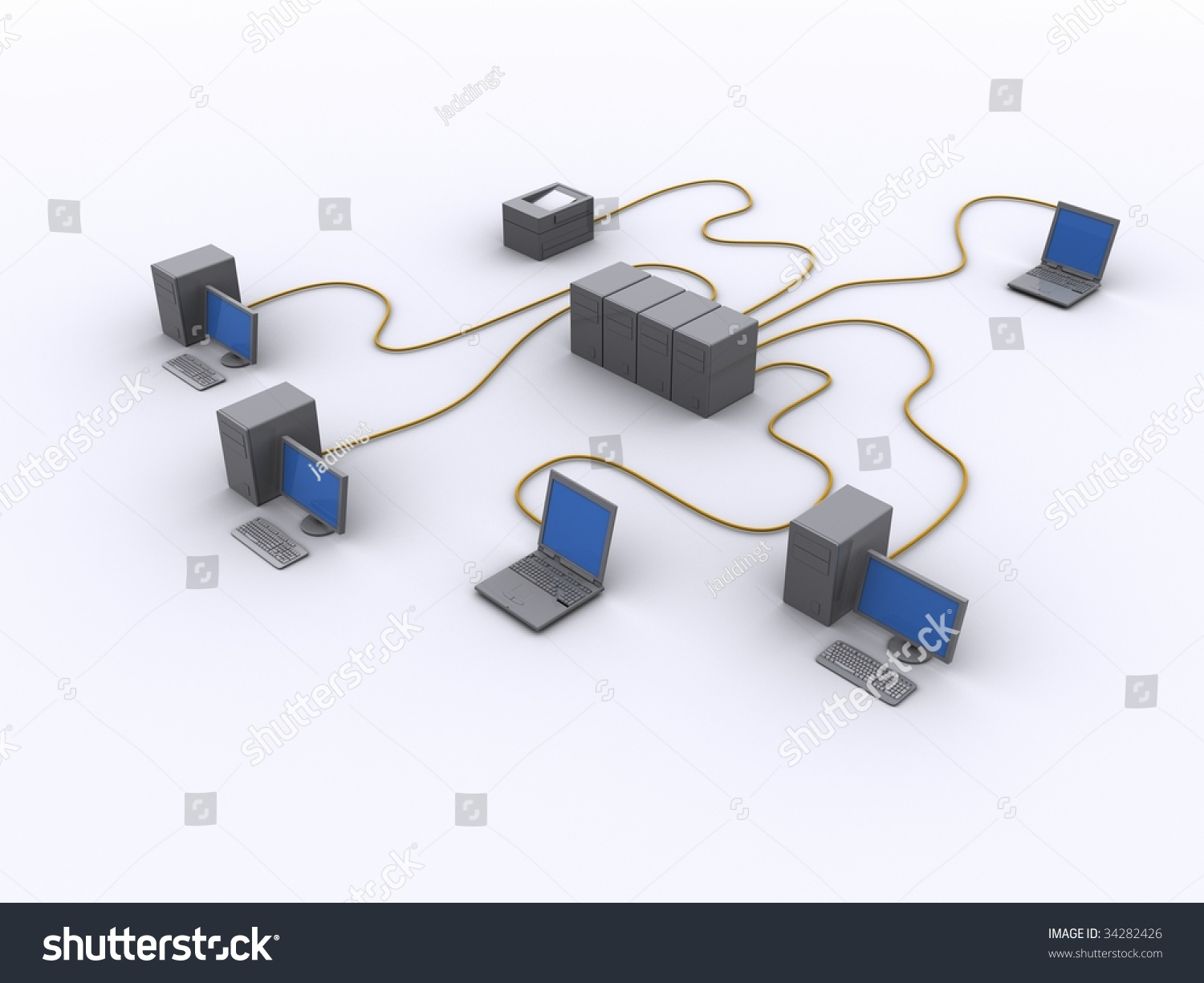 Picture Wired Network Diagram Stock Illustration 34282426 - Shutterstock