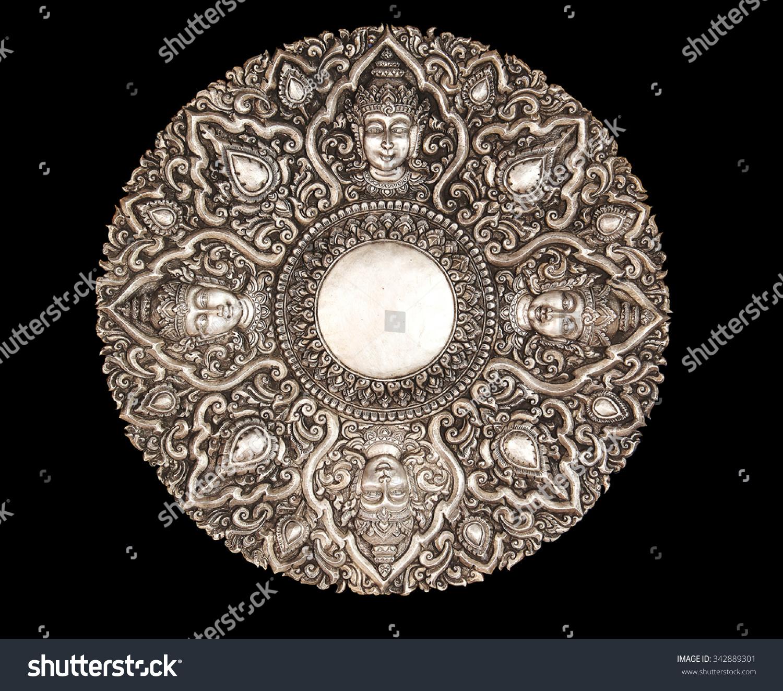 decorative art of lanna thai silver carving art on temple wall srisuphan temple - Decorative Art