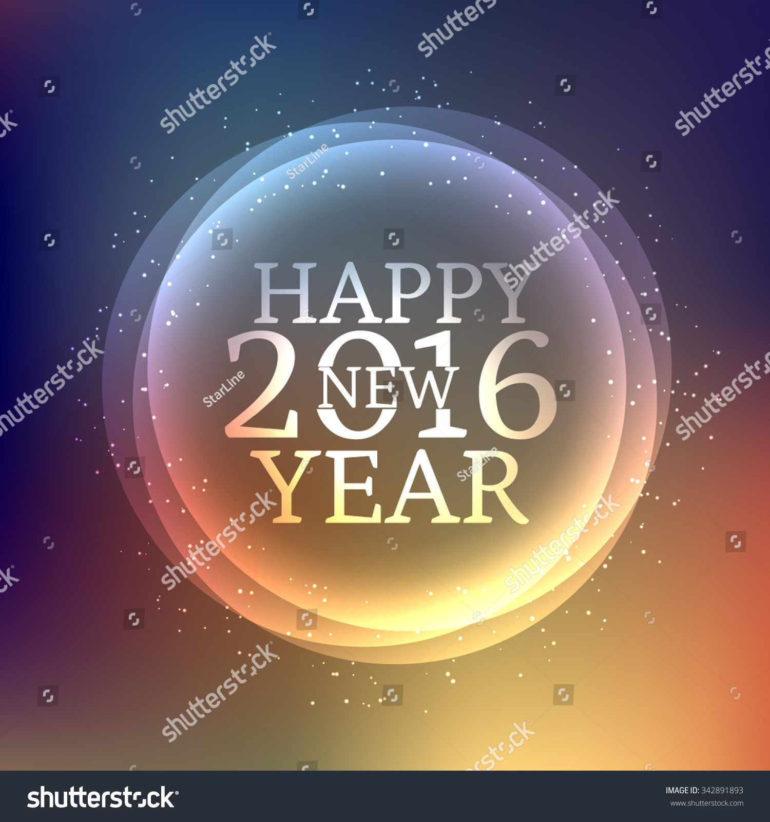 Happy New Year Greeting Wishes Stock Vector 2018 342891893