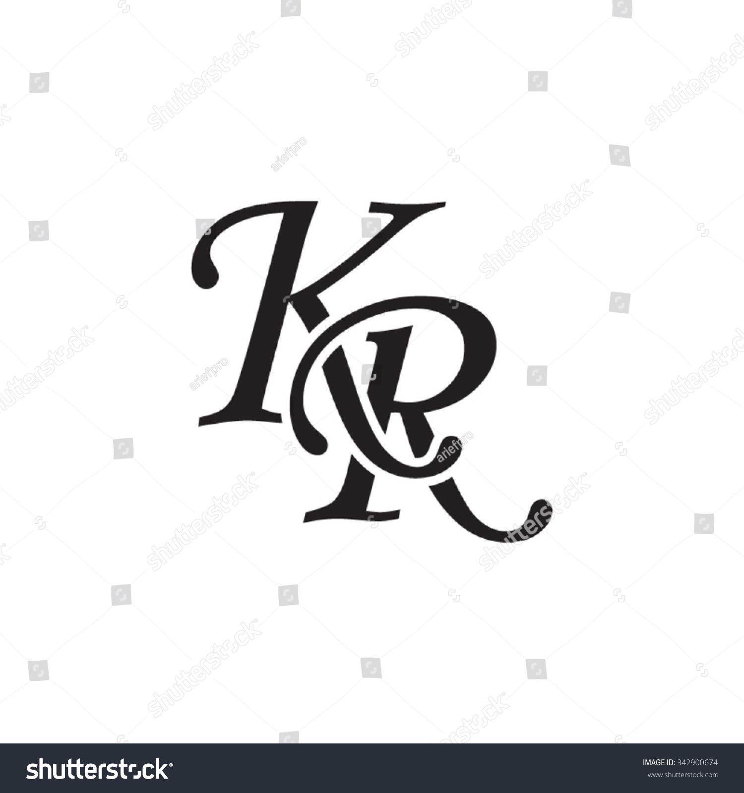 Kr Initial Monogram Logo