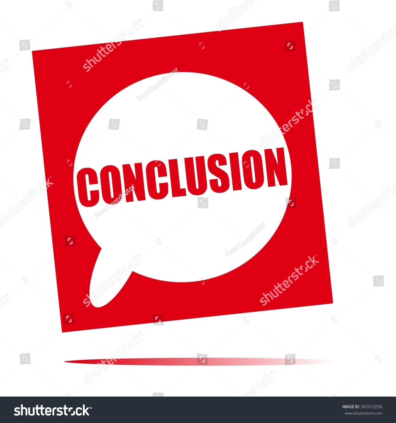 Conclusion Speech Bubble Icon Stock Illustration 342913256 ...
