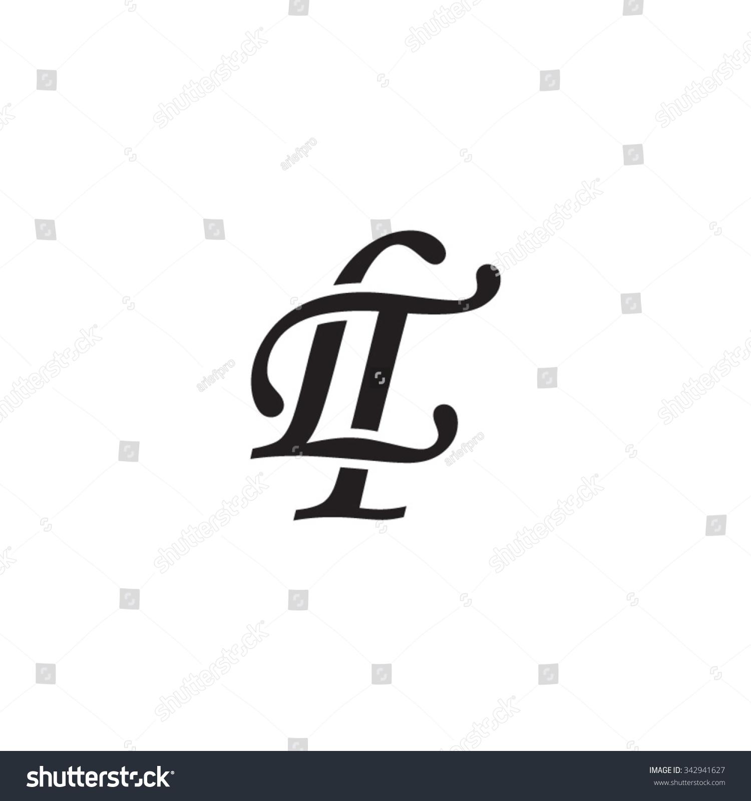 lt initial monogram logo stock vector royalty free 342941627