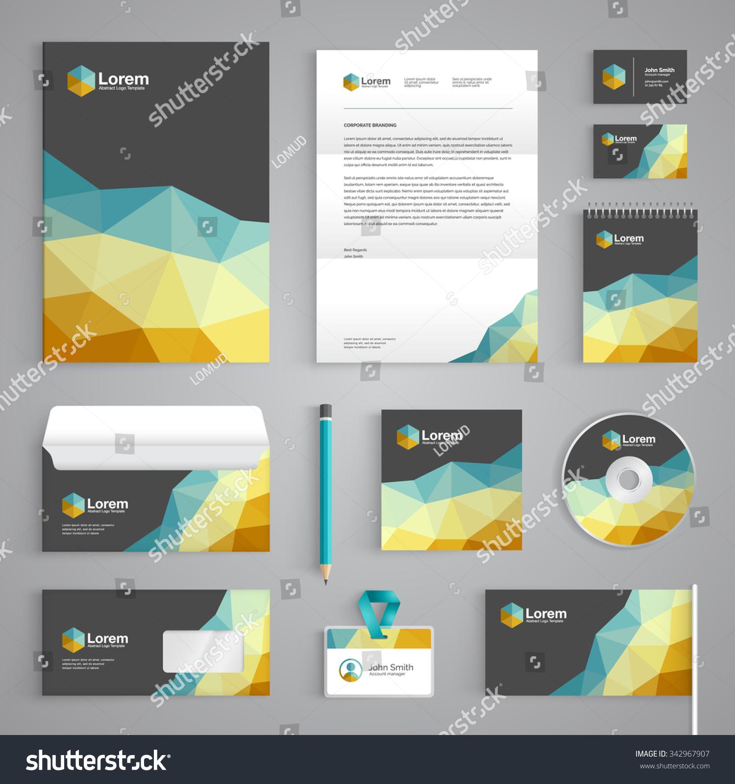 Royalty free Corporate identity branding template … Stock