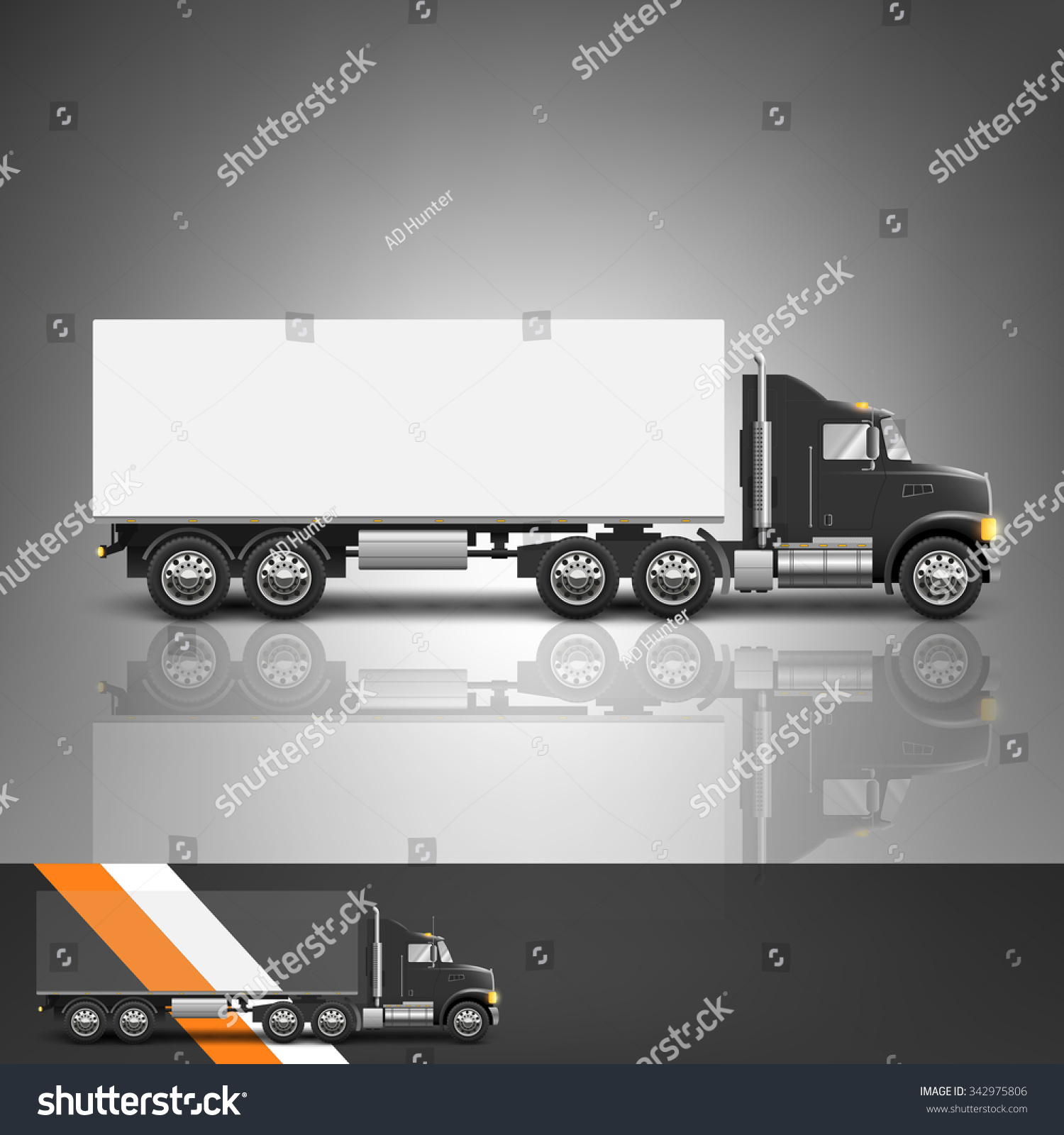 template advertising corporate identity transport truck stock template for advertising and corporate identity transport truck blank mockup for design