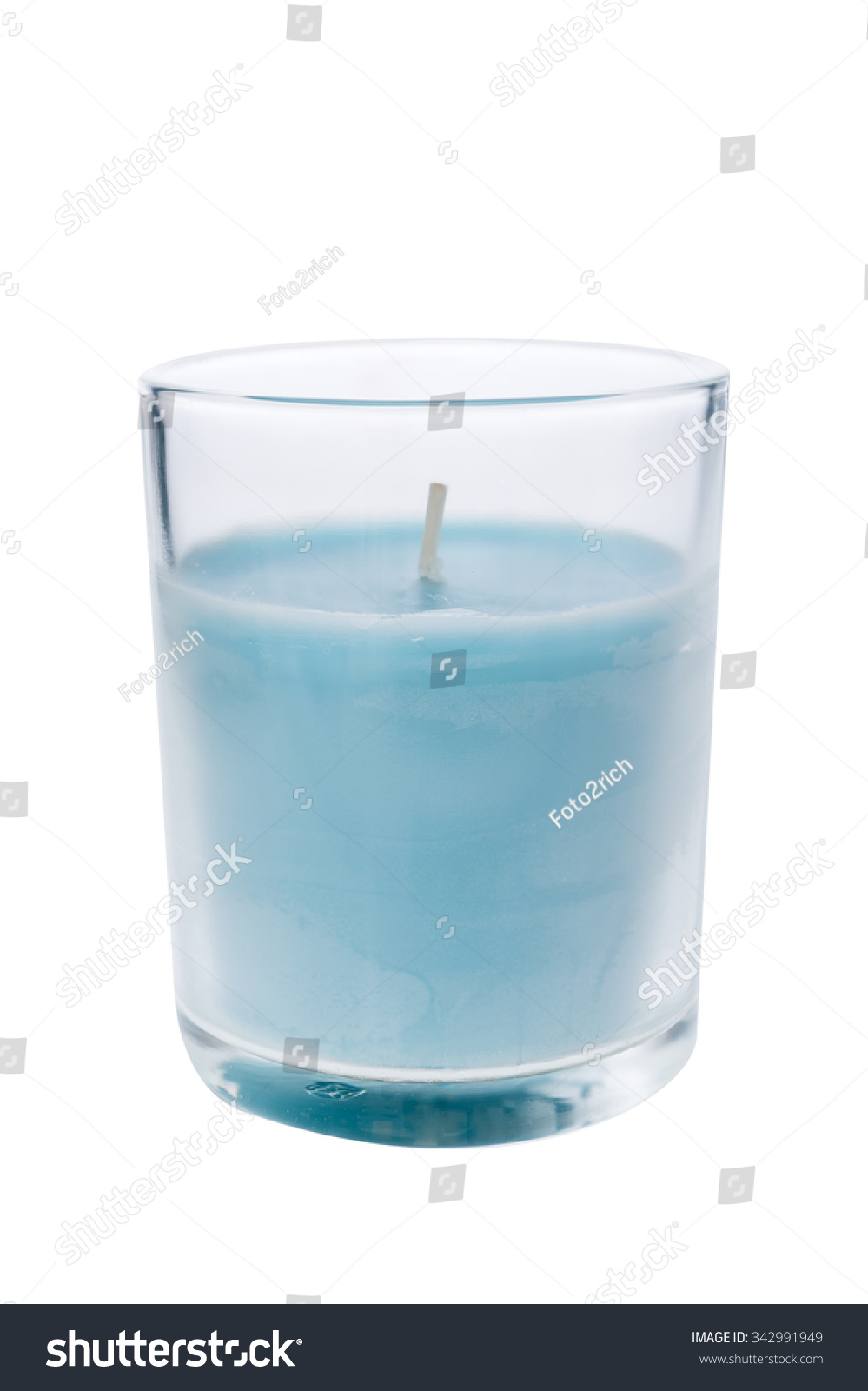 Blue Candle Glass Isolated On White Stock Photo 342991949 ... for Blue Candle White Background  585ifm