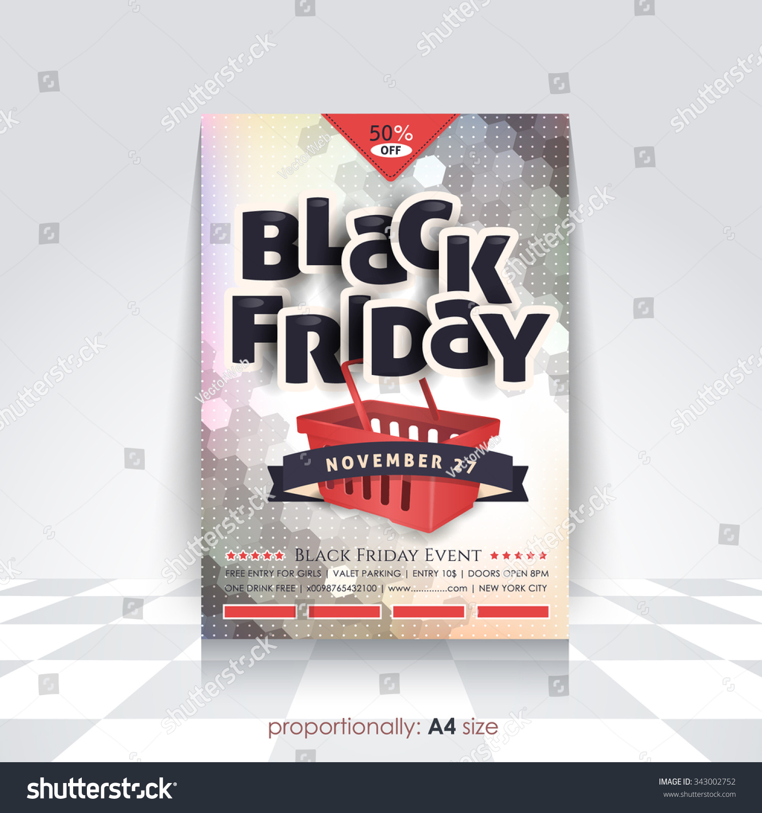 a style black friday poster flyer stock vector  a4 style black friday poster flyer advertising design