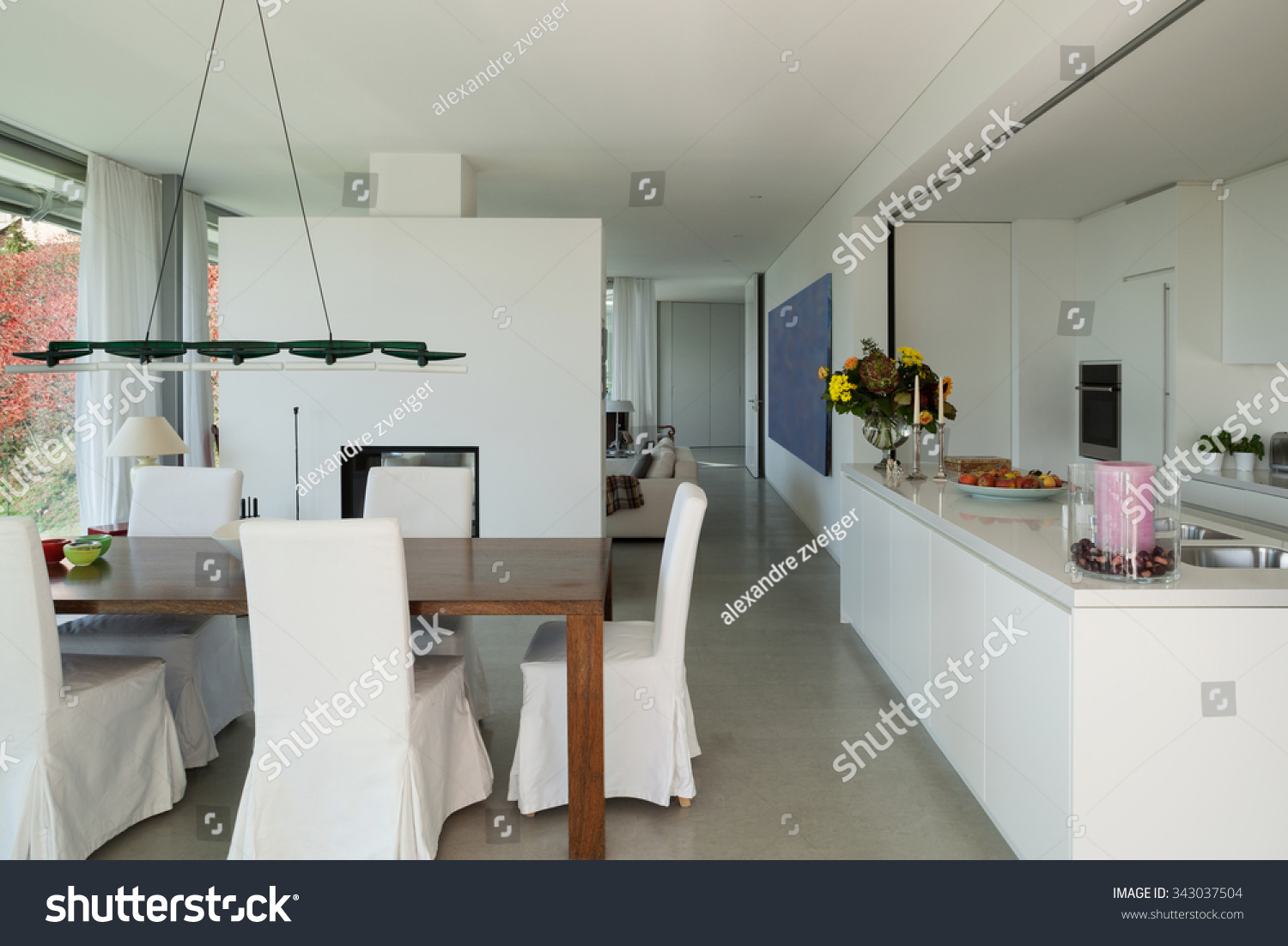 Interior modern house nice dining room stock photo Nice house interior