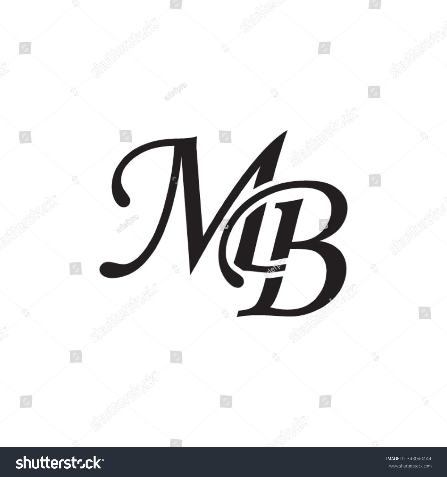 Abstract B Logotype: Mb Initial Monogram Logo Stock Vector 343040444