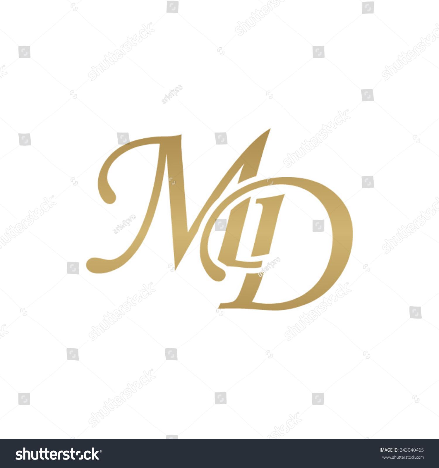 Md Initial Monogram Logo Stock Vector Illustration 343040465 ...