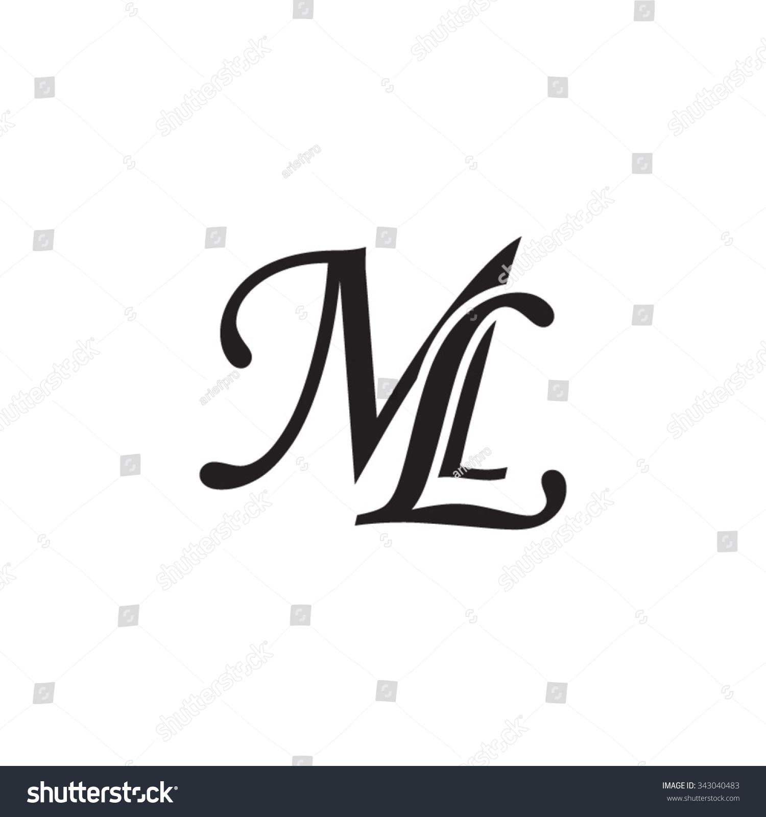 Ml Initial Monogram Logo Stock Vector 343040483 Shutterstock