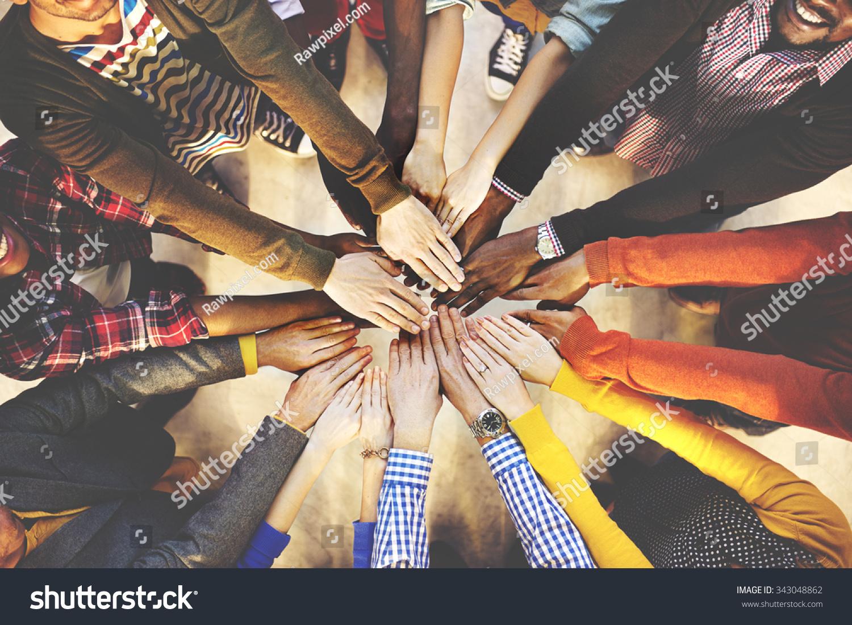 Team Teamwork Togetherness Collaboration Concept        - Image