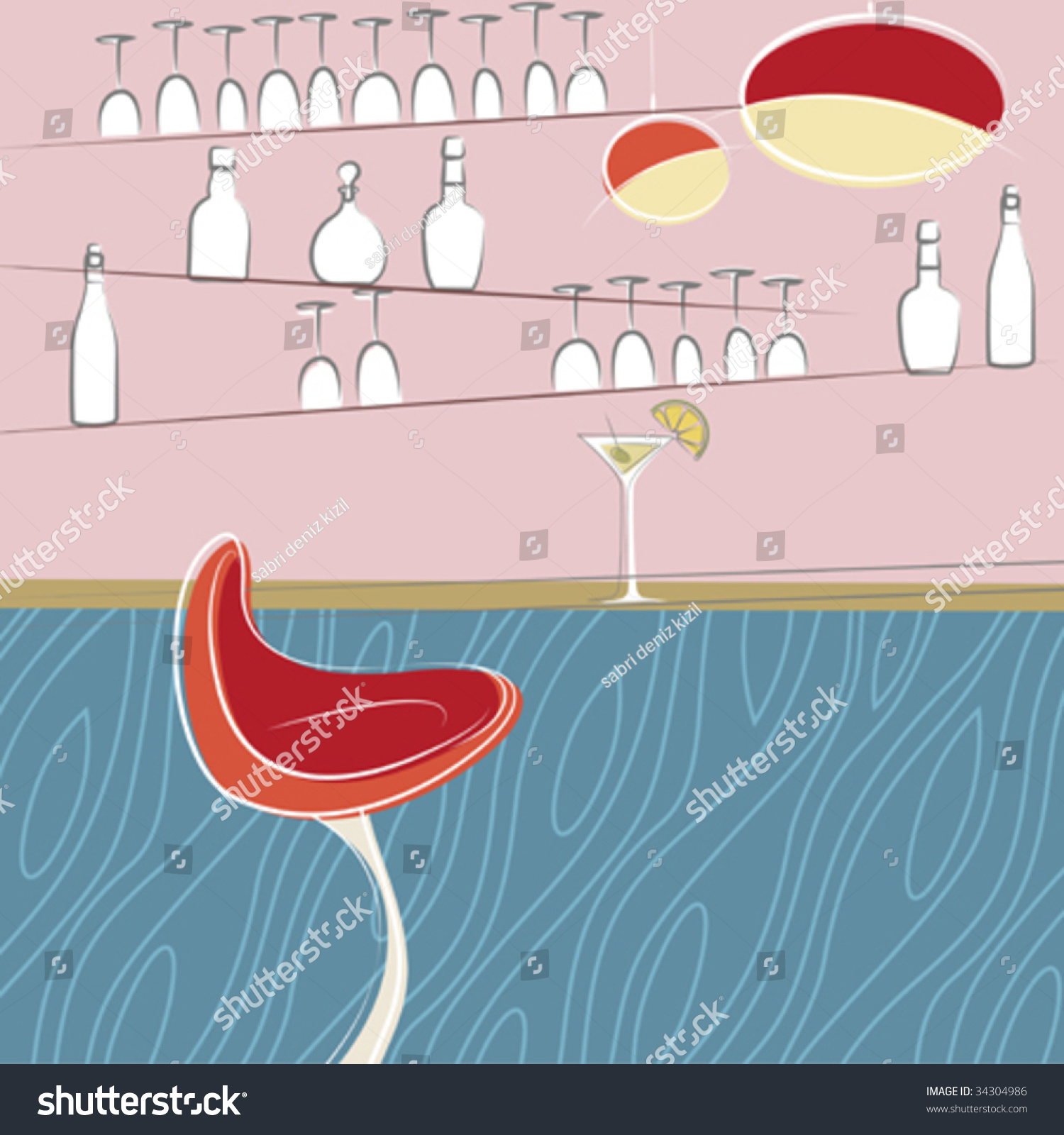Drinking Bar Design Stock Vector Illustration 34304986