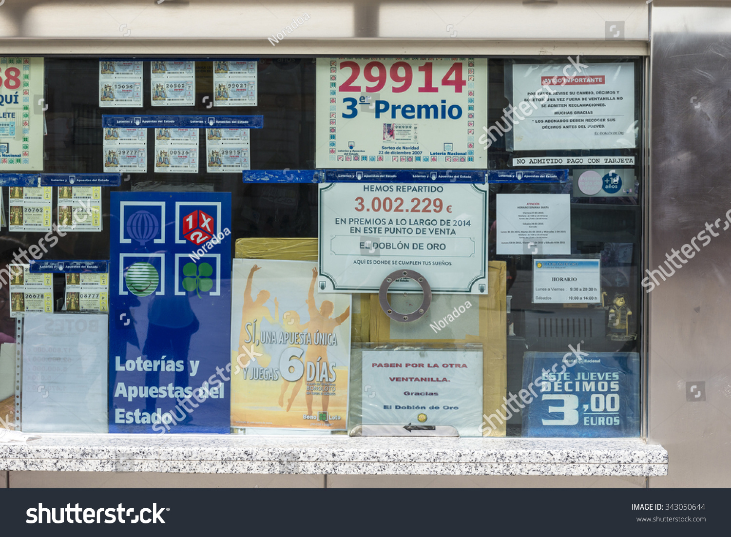 MADRID MARCH 9 2015 Spanish Lottery Stock Photo (Edit Now