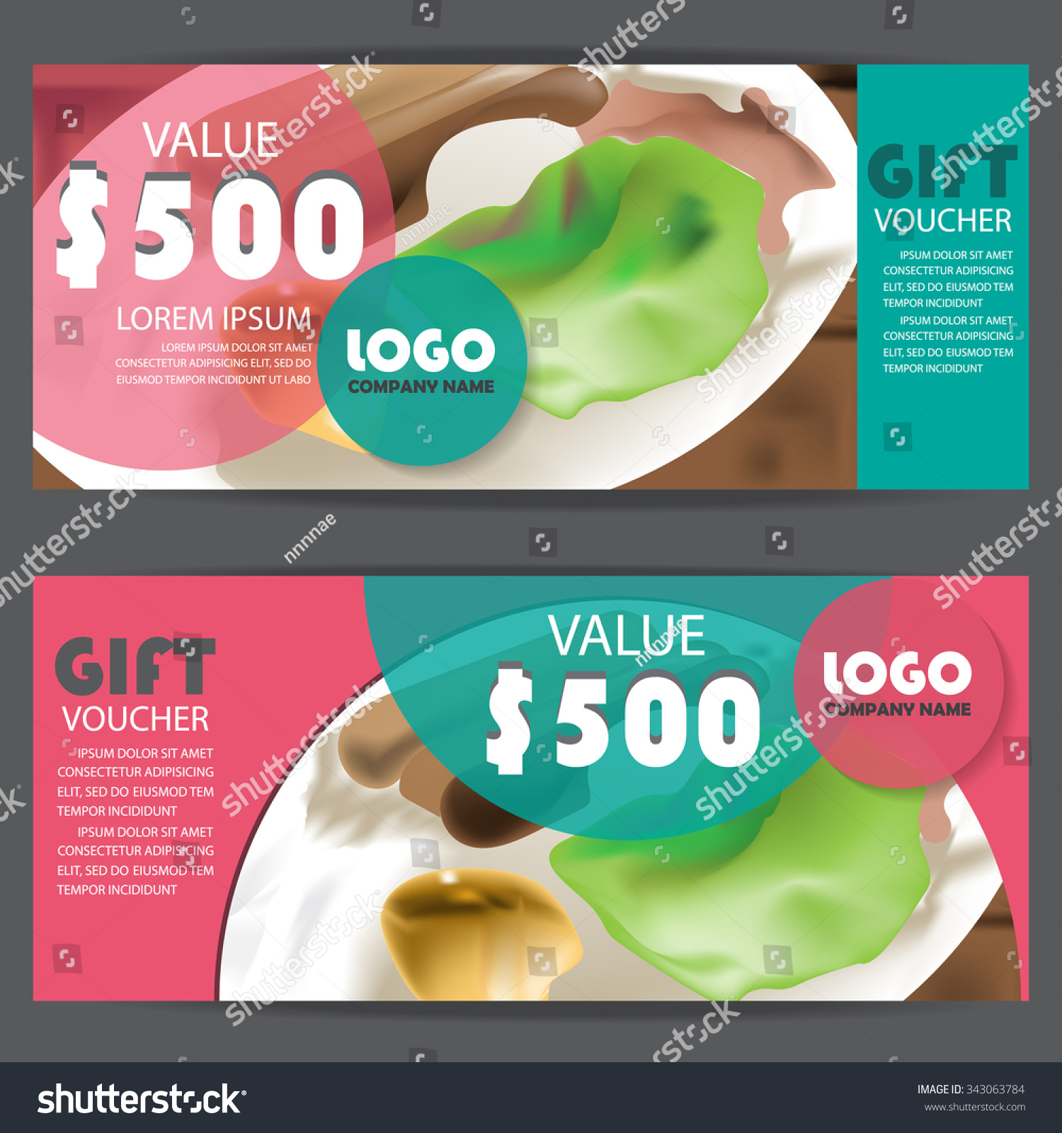 Gift Voucher Certificate Coupon Template Modern Vector – Restaurant Coupon Template