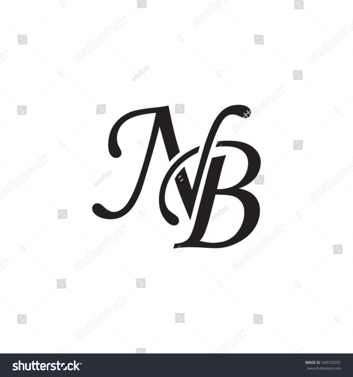 Royalty Free Nb Initial Monogram Logo 343103201 Stock