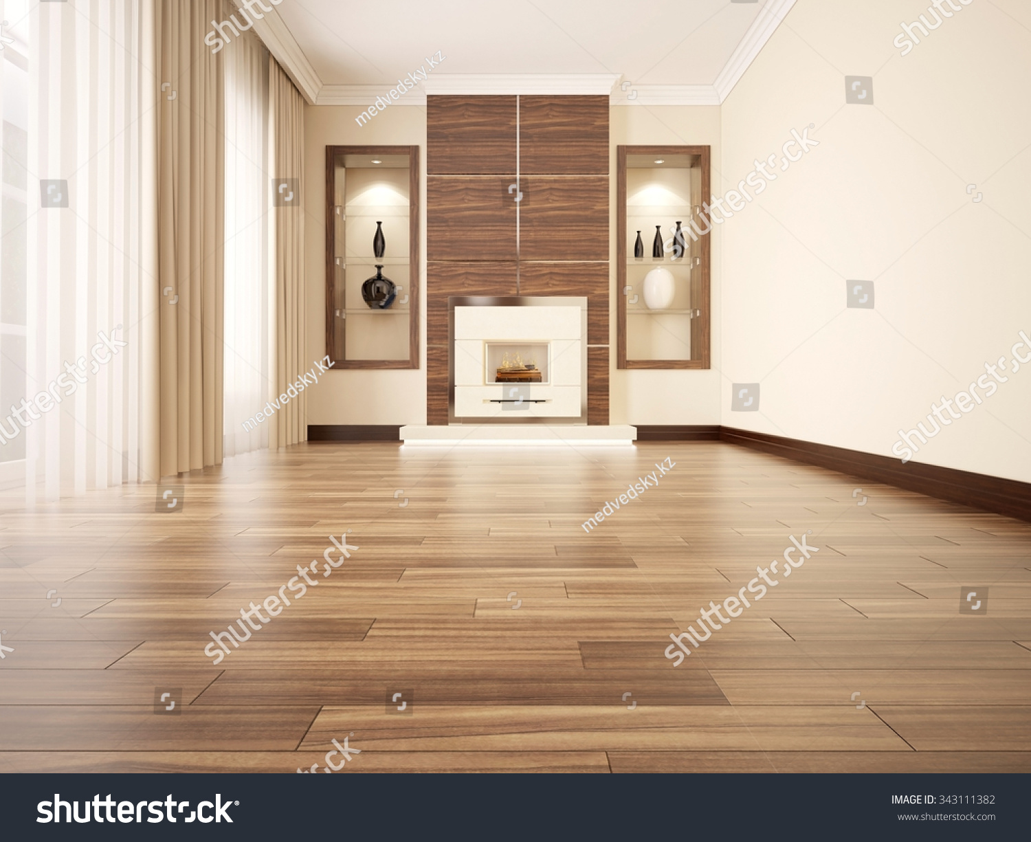 3d illustration comfortable contemporary living room stock
