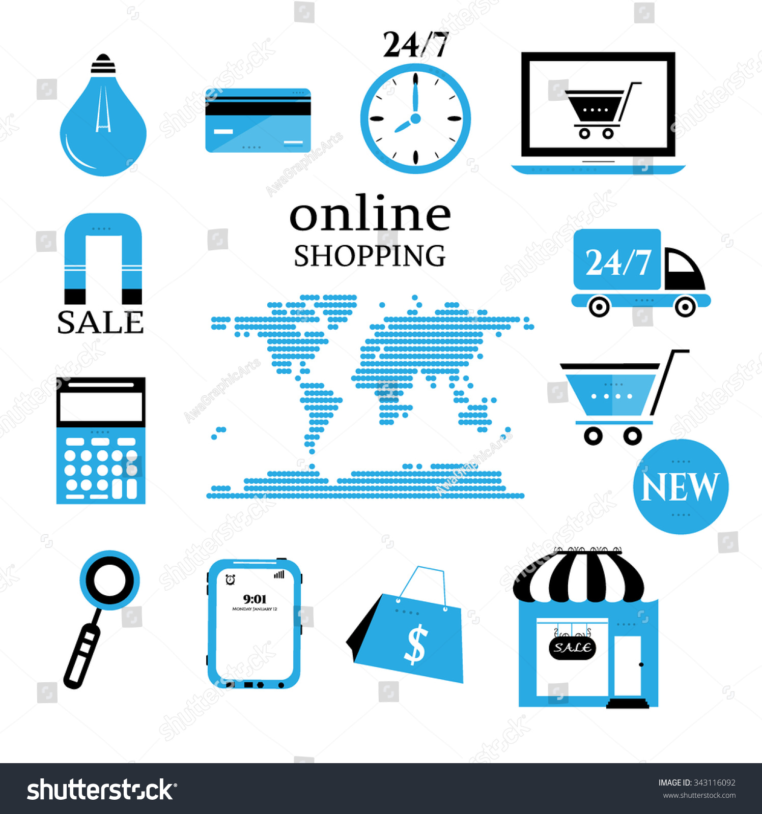 Business background online shopping world map vector de business background online shopping world map vector de stock343116092 shutterstock gumiabroncs Gallery