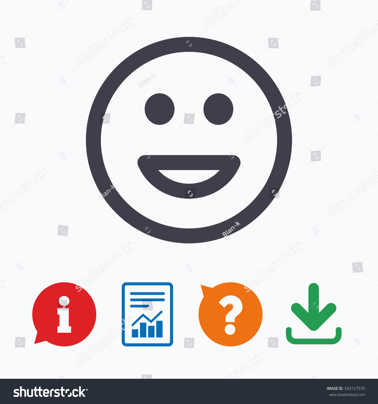 Smile Icon Happy Face Chat Symbol Stock Vector Royalty Free