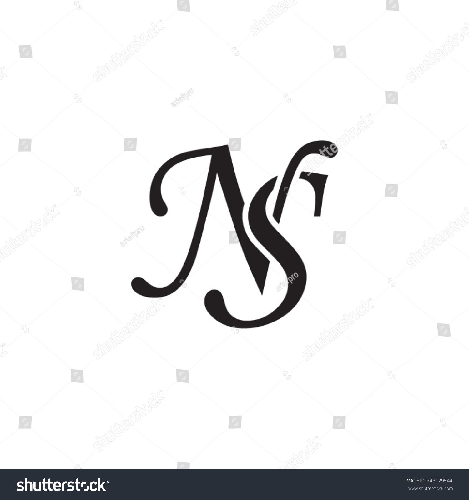 Ns Initial Monogram Logo Stock Vector 343129544 Shutterstock