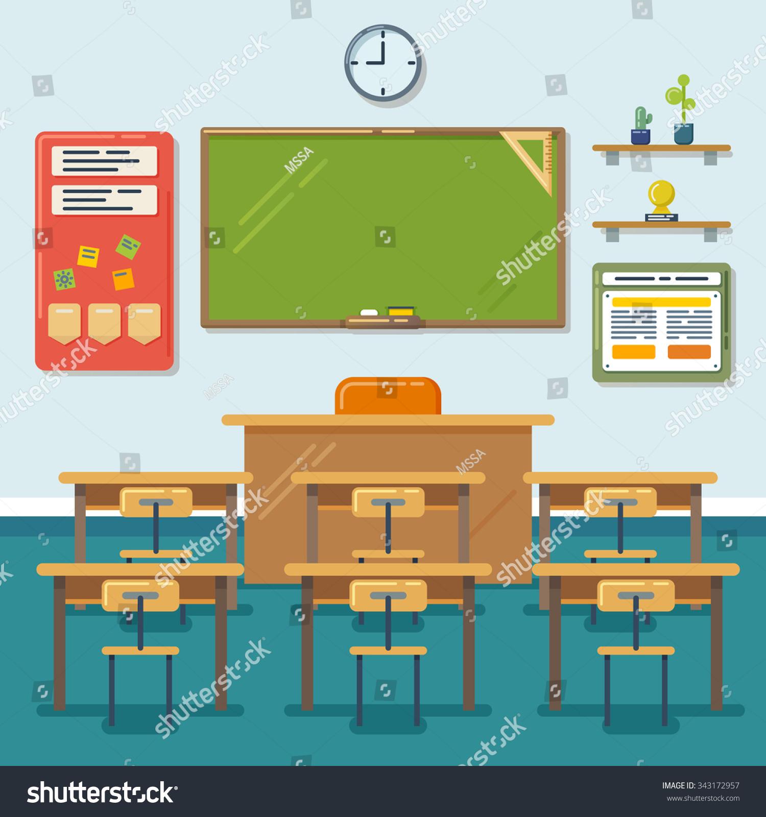 Classroom Blackboard Design ~ School classroom chalkboard desks class education stock
