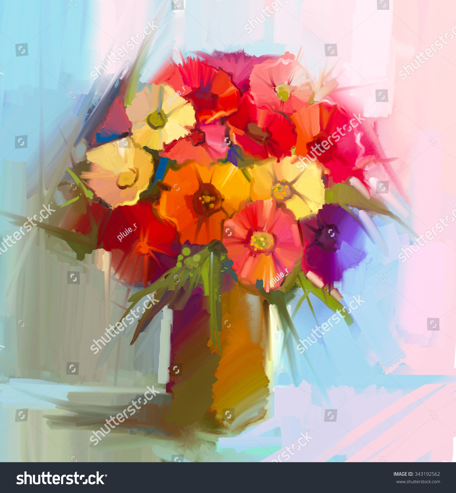 Abstract art oil painting spring flower stock illustration 343192562 abstract art oil painting of spring flower artistic still life of bouquet yellow izmirmasajfo
