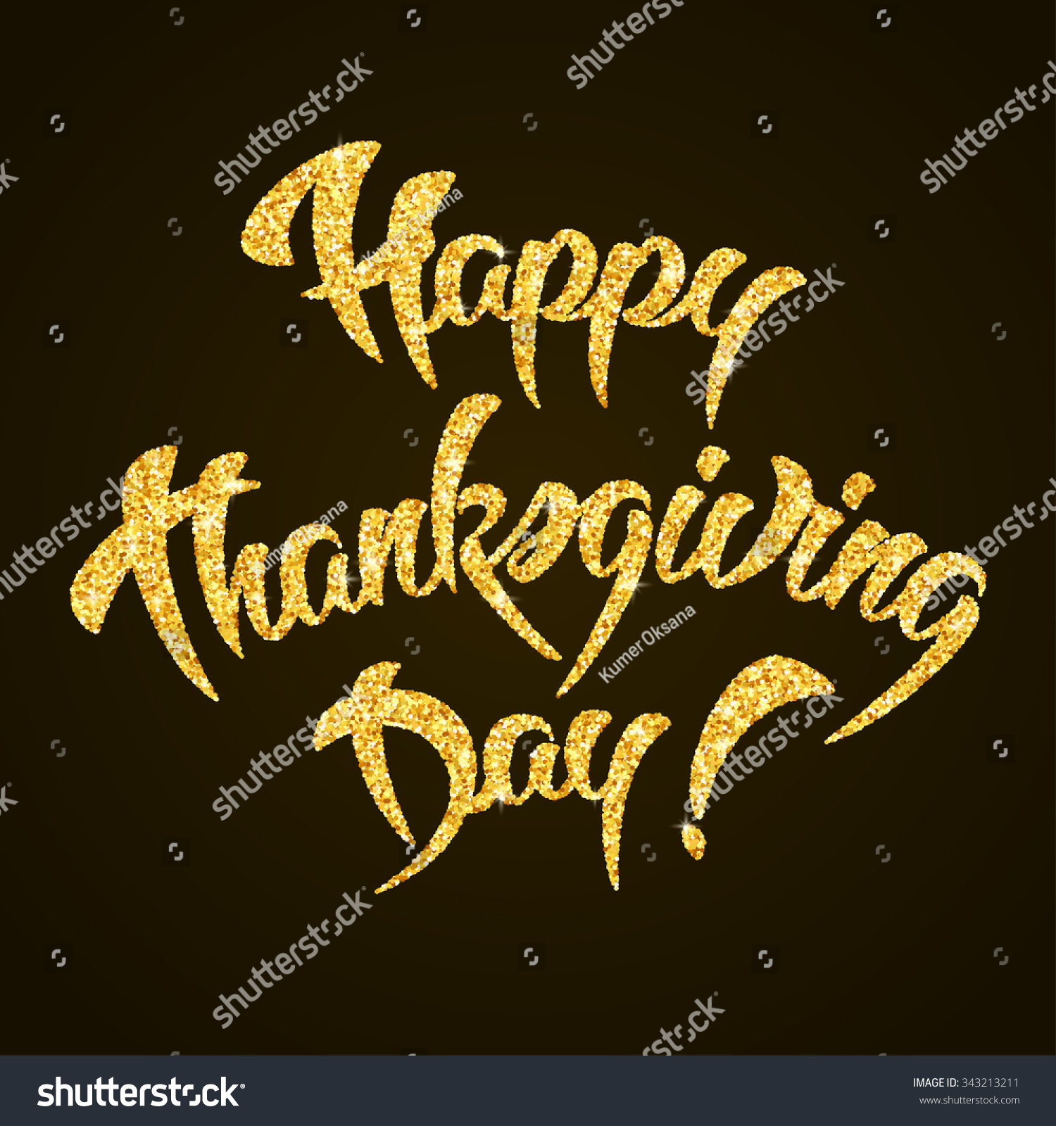 Stock Vector Happy Thanksgiving