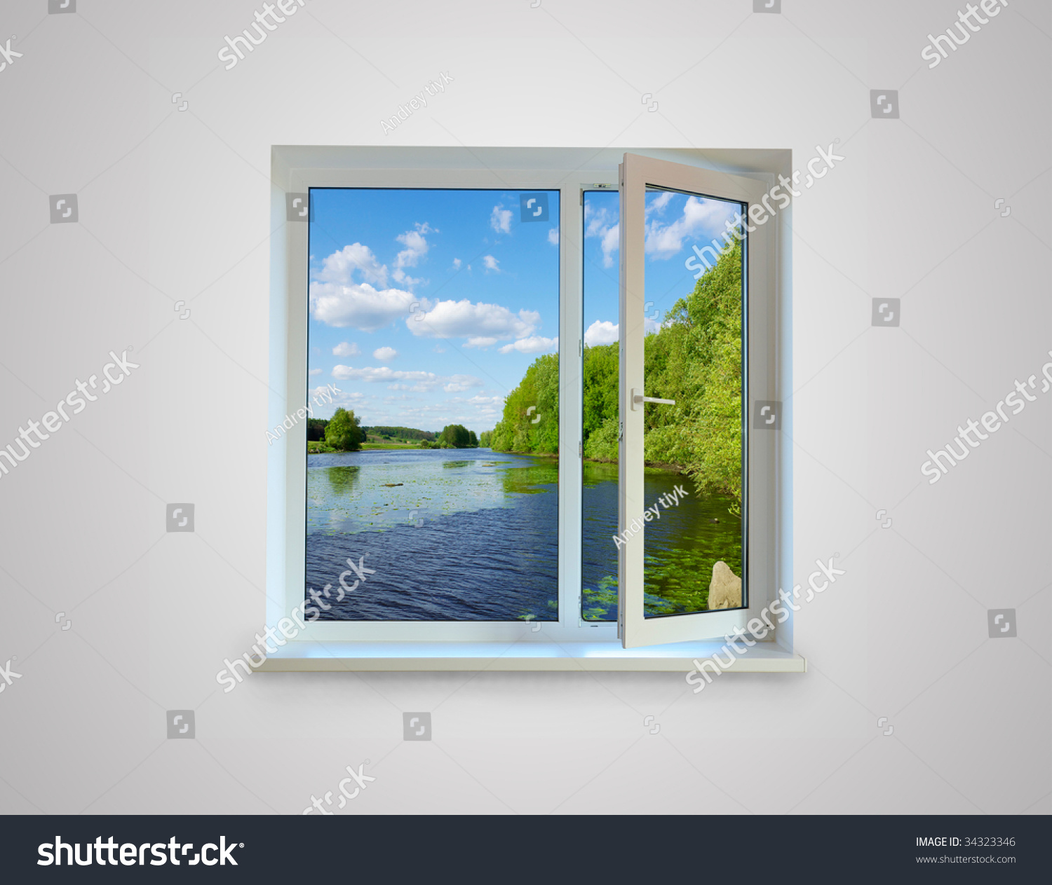 Closed Window Frame : New closed plastic glass window frame stock photo