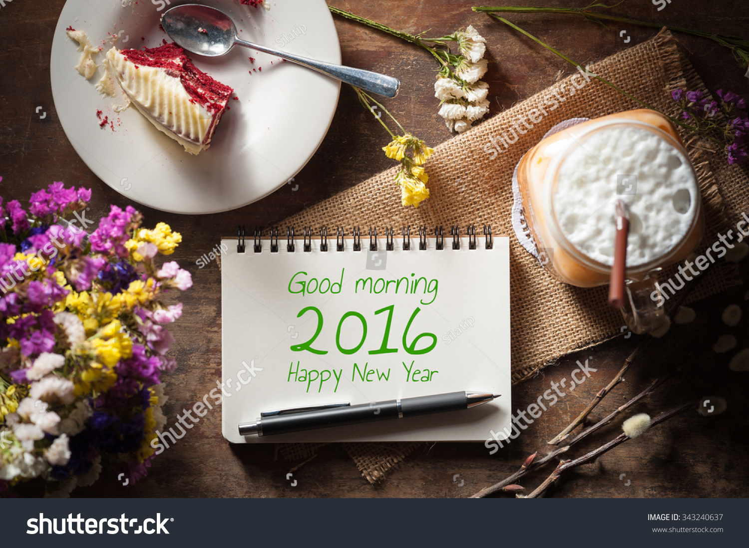 Good Morning 2016 Happy New Year Stock Photo Edit Now 343240637