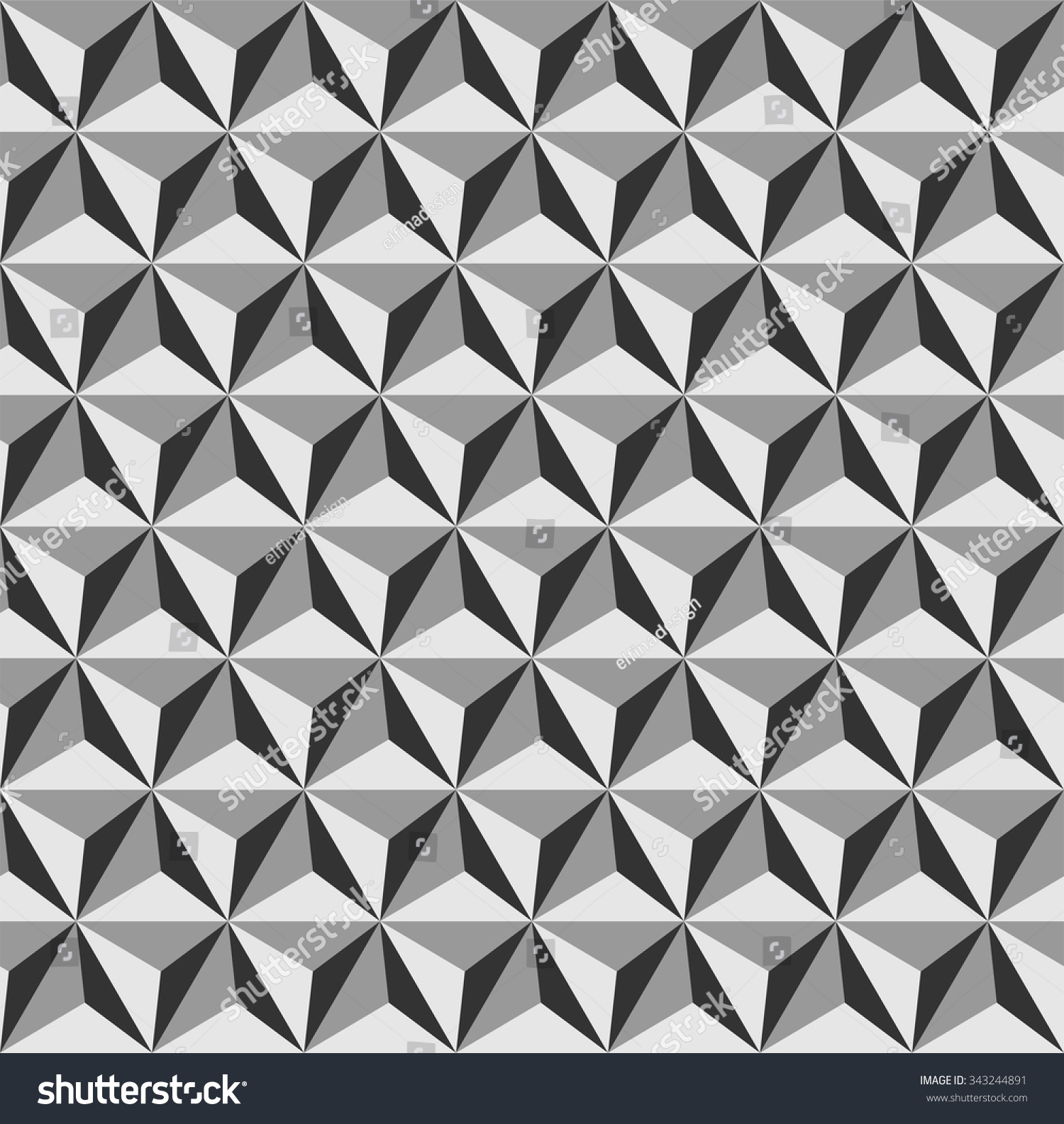 Tetrahedrons Pattern Vector Abstract Geometric Pattern Stock ...
