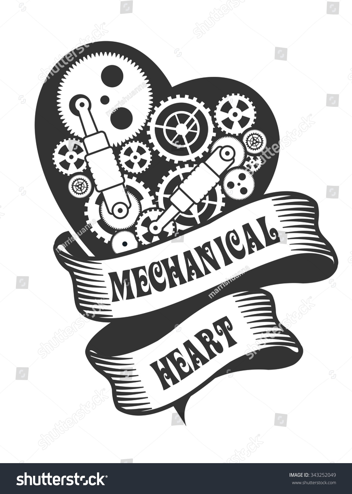 Royalty Free Stock Illustration Of Mechanical Heart Steam Punk Small