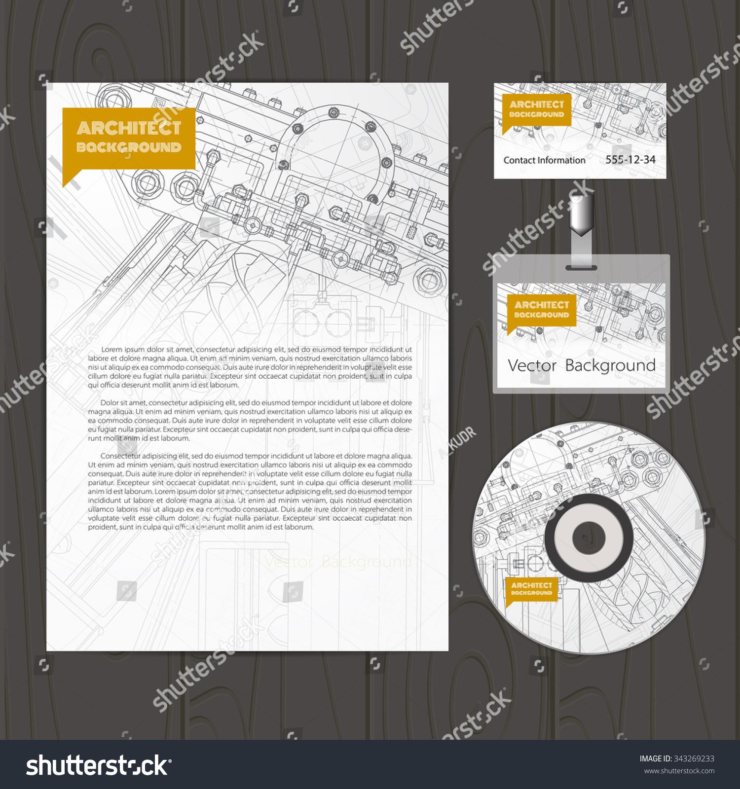 Vector technical blueprint mechanism engineer illustration stock vector technical blueprint of mechanism engineer illustration set of corporate identity templates vector malvernweather Gallery