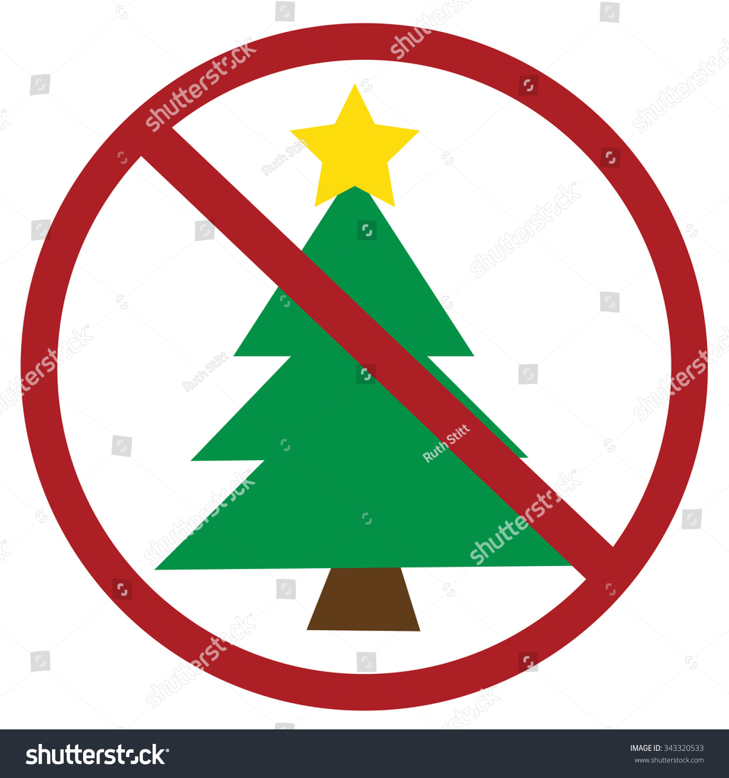 No Christmas Stock Vector (Royalty Free) 343320533 - Shutterstock