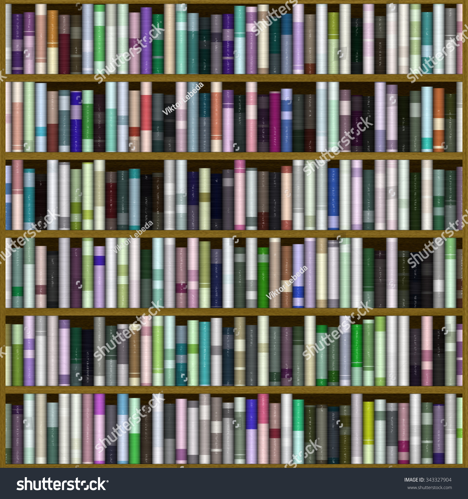 Bookshelf Texture Stock Illustration 343327904