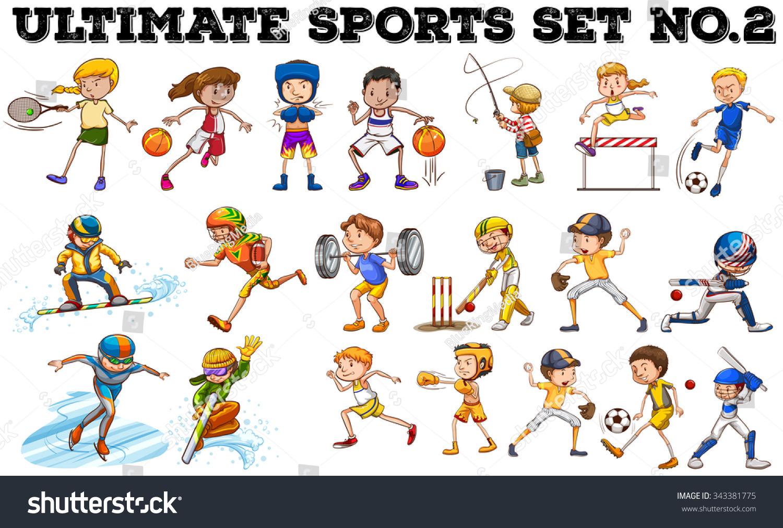 sports different kind illustration shutterstock vector footage vectors illustrations music