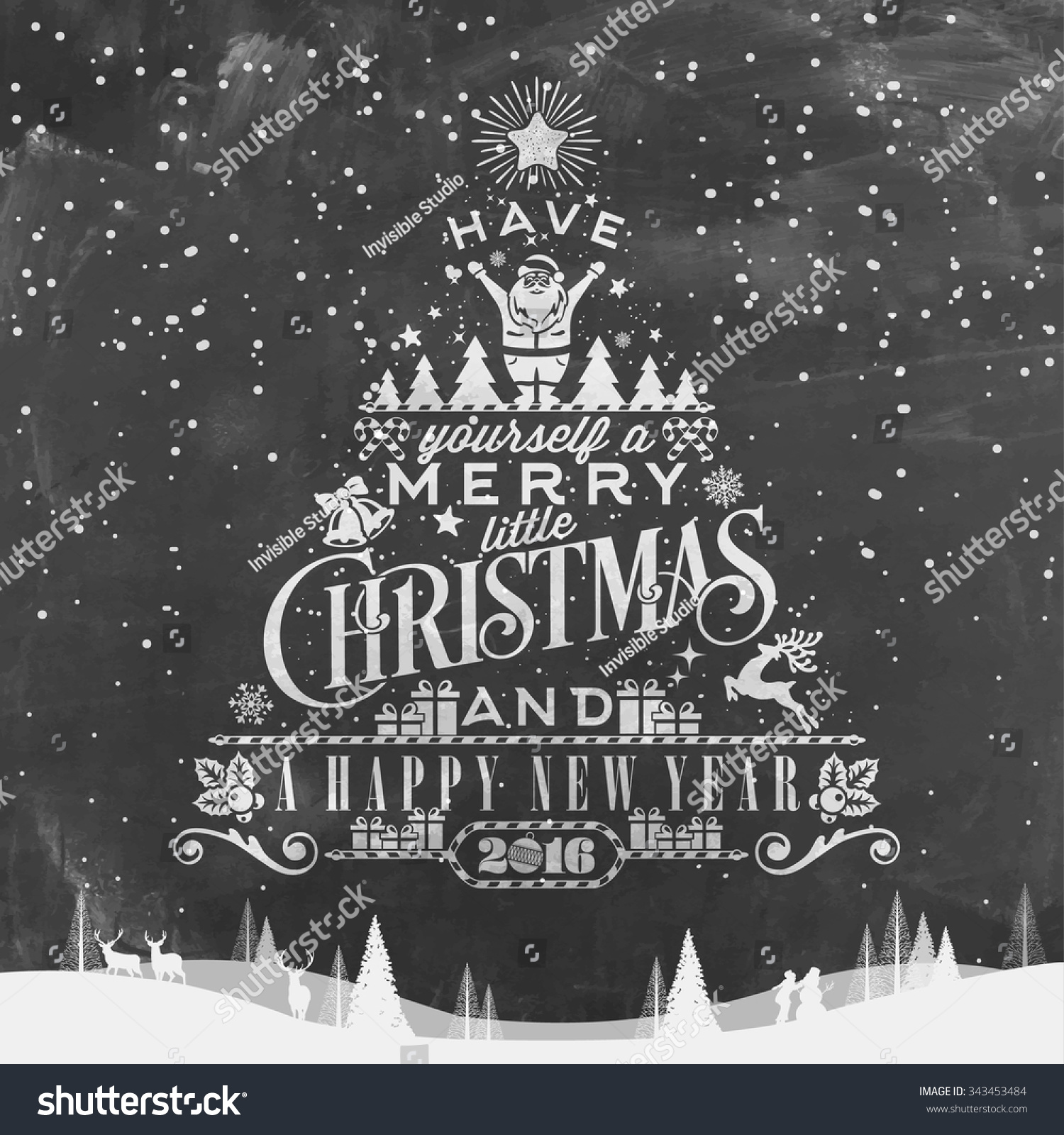 Have Yourself A Merry Little Christmas.Have Yourself Merry Little Christmas Happy Stock Vector