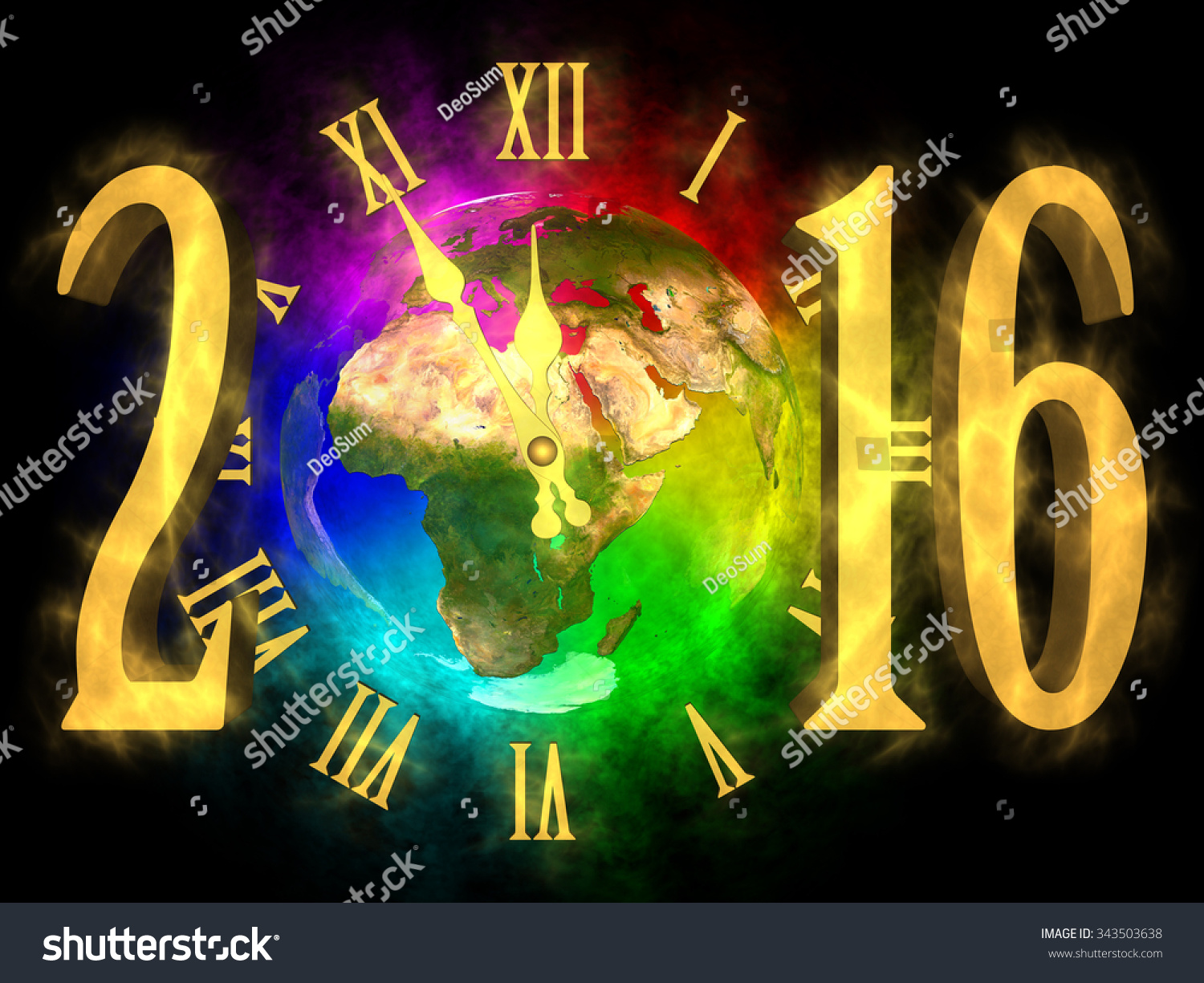 Happy new year 2016 europe asia and africa stock photo 343503638 shutterstock - Happy new year sound europe ...