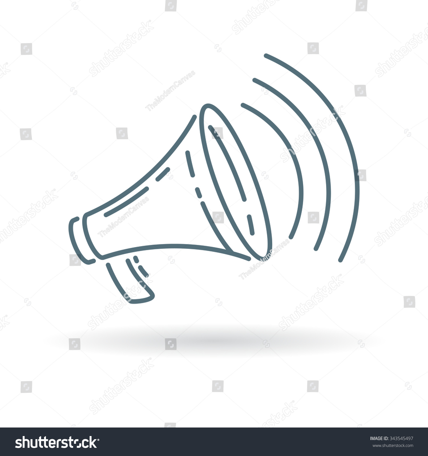 Loudspeaker Icon Megaphone Sign Announcement Symbol Stock Vector ...