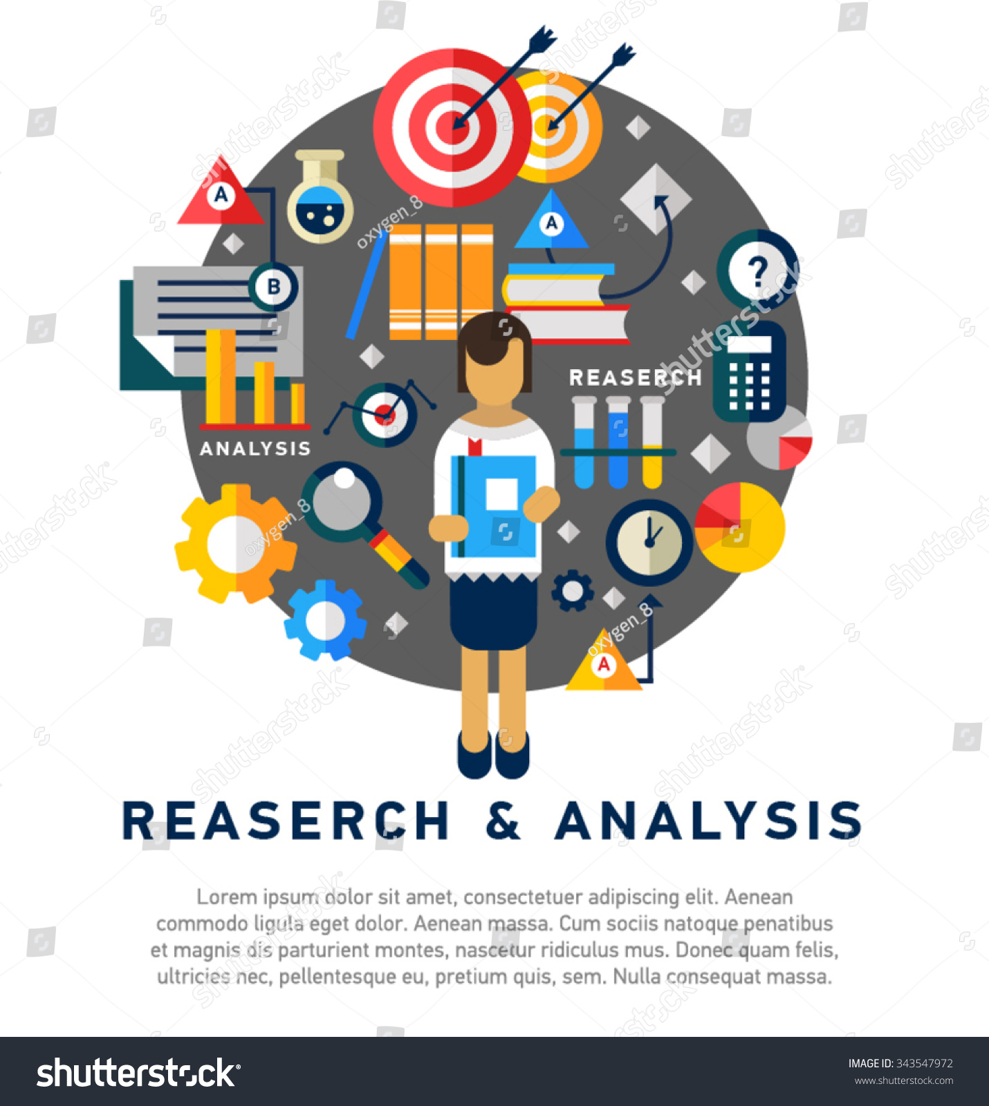 Doodle Style Concept General Research Analysis Stock Vector ...