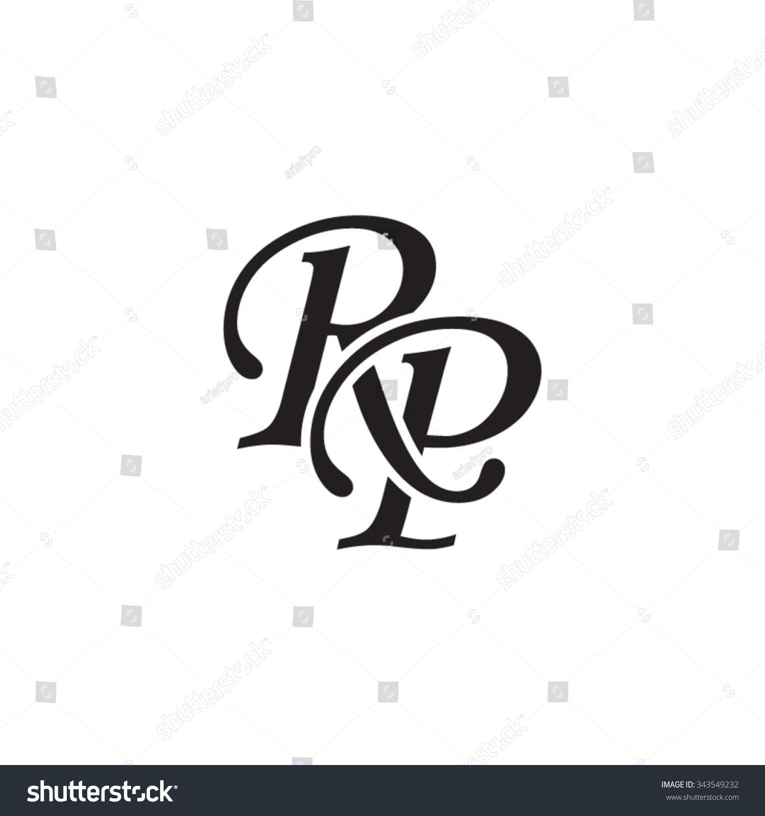 Rp Initial Monogram Lo...P Logo Name