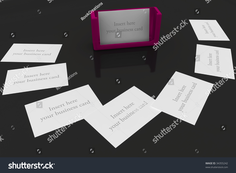 Purple Business Card Holder On Black Stock Photo 34355242 - Shutterstock