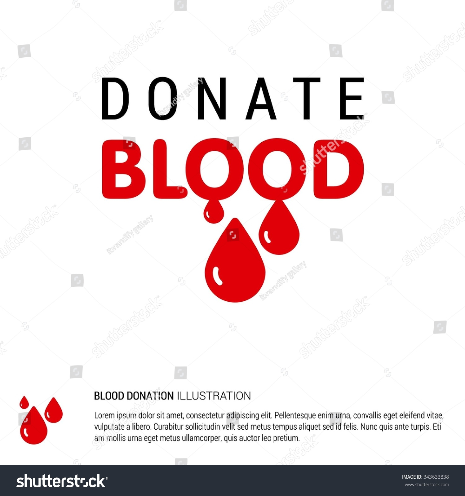 Poster design on blood donation - Donate Blood Creative Typography Design Template Health Care Poster Design Isolated On White Background