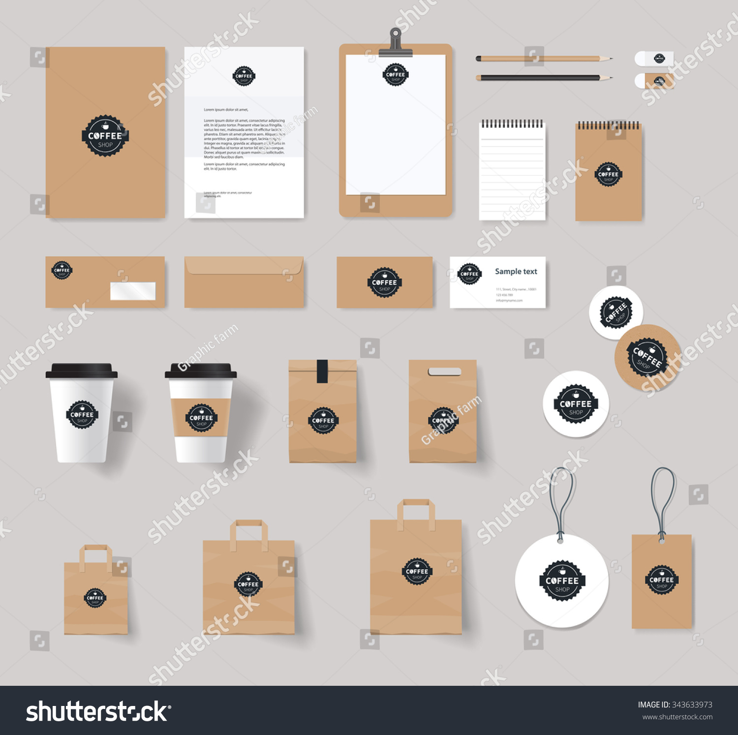 Corporate Branding Identity Mock Template Coffee Stock Vector HD ...