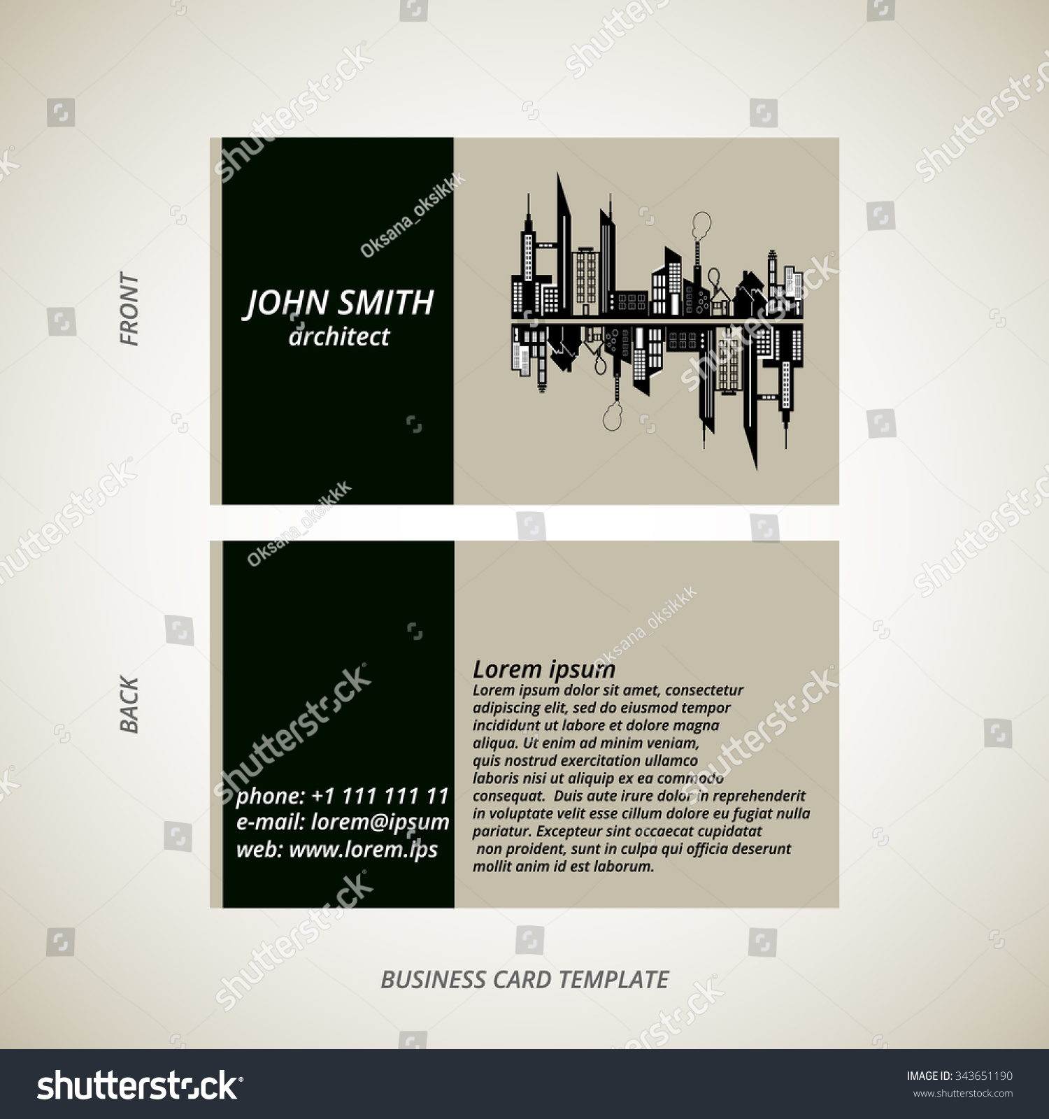 Vector modern creative business card template stock vector vector modern creative business card template for architect magicingreecefo Images