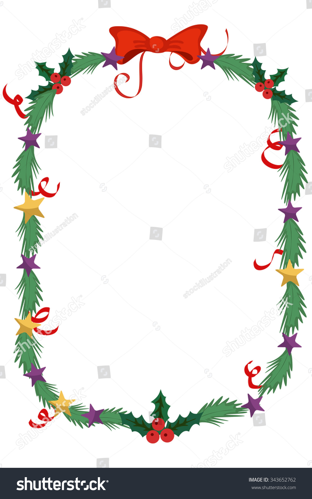 Merry Christmas Celebration Border Decoration Frame Stock Photo ...