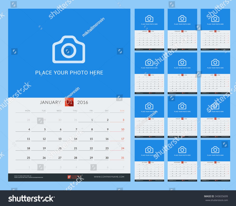 weekly calendar design