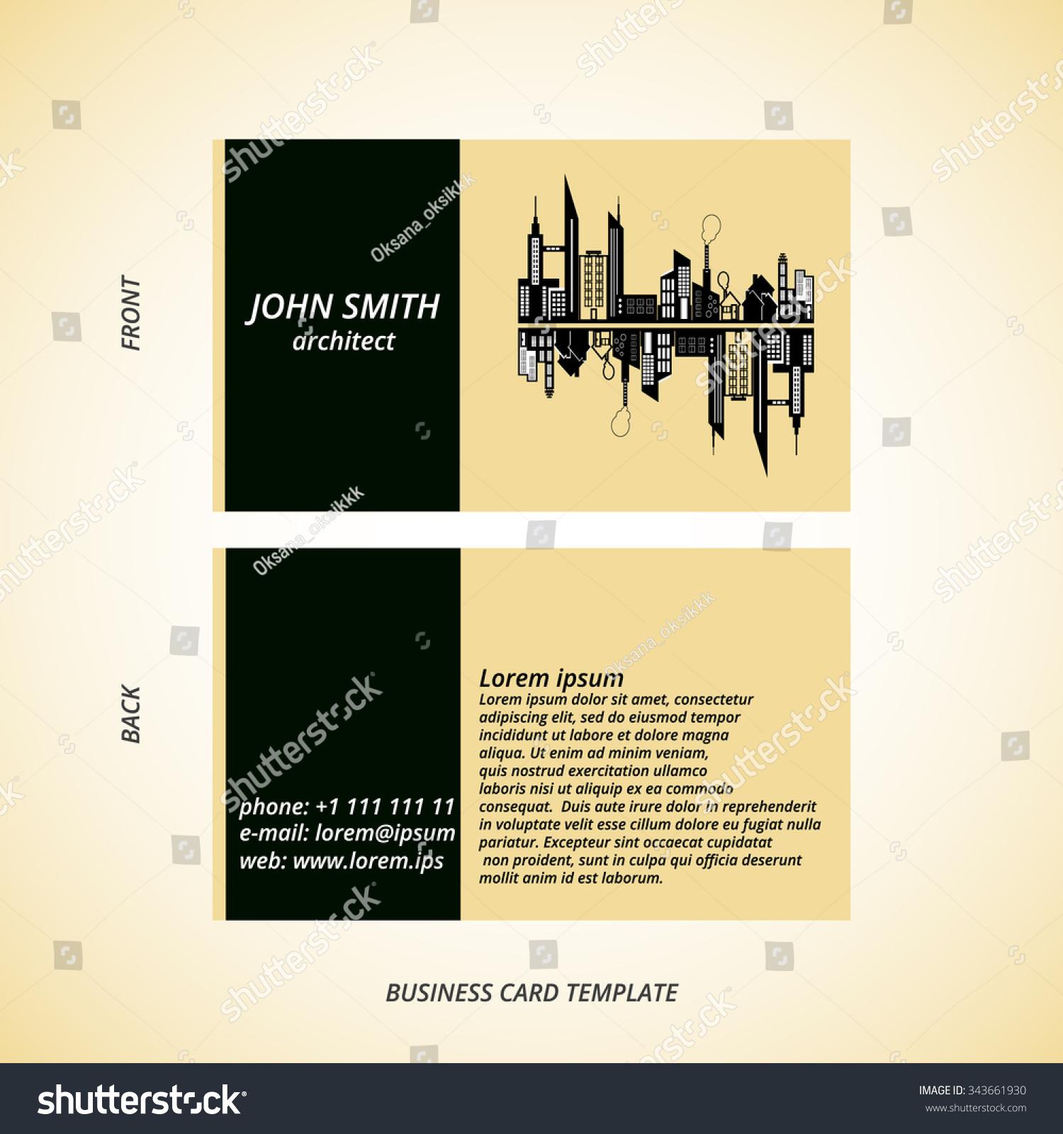 Vector Modern Creative Business Card Template Stock Vector ...